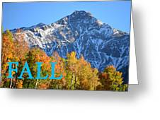 Fall Colors Cover Work Greeting Card