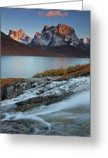 Fall Colors In Tasermiut Fiord Greeting Card