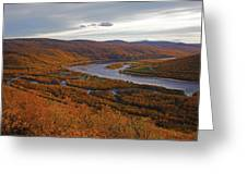 Fall Colors In The Arctic Greeting Card