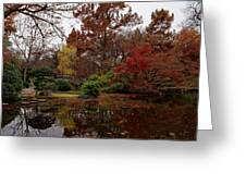 Fall Colors In The Garden Greeting Card