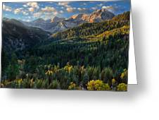 Fall Colors On Mt. Timpanogos Greeting Card