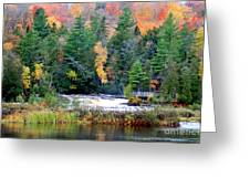Fall Colors On The  Tahquamenon River   Greeting Card