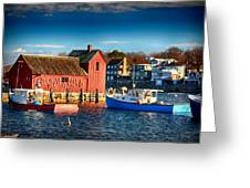 Fall Comes To Rockport Greeting Card