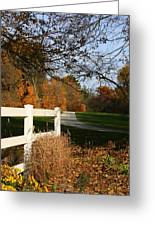 Fall Comes To The Hollow Greeting Card