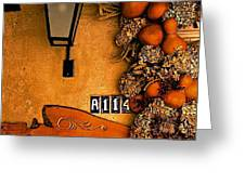 Fall Decoration Greeting Card