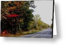 Fall Drive Color Tour Greeting Card