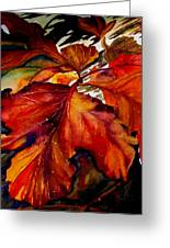 Autumn Dressage Greeting Card