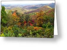 Fall Folage 3 Along The Blueridge Greeting Card