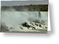 Fall Foliage At American Falls Panorama Greeting Card