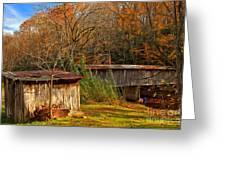 Fall Foliage At Meems Bottom Bridge Greeting Card