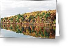 Fall Foliage At Walden Pond Greeting Card by John Sarnie