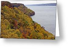 Fall Foliage On The New Jersey Palisades II Greeting Card