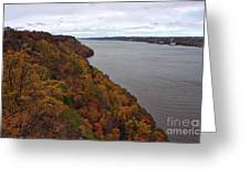 Fall Foliage On The New Jersey Palisades  Greeting Card