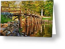Fall Foliage Over The North Bridge Greeting Card