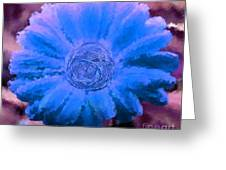 Fall For Me Purple Blue Greeting Card