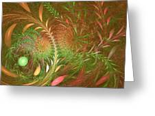 Fall Fractal Fields Greeting Card
