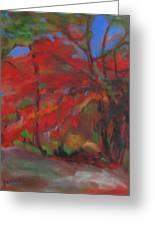 Fall Fusion Greeting Card by Susan Hanlon