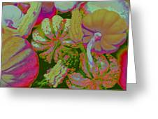 Fall Gourds Pinked Greeting Card