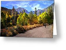 Fall Hiking In The High Sierras Greeting Card