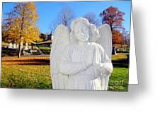 Fall In Angel Greeting Card