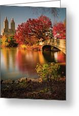 Fall In Central Park Greeting Card