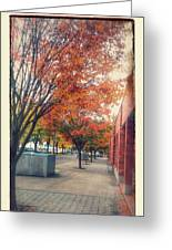 Fall In Downtown Vancouver Washington Greeting Card