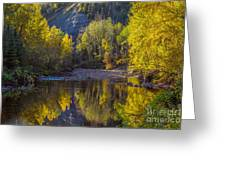 Autumn Reflections In Fort Mcmurray Greeting Card