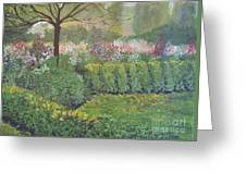 Fall In Monet's Garden Greeting Card
