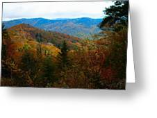 Fall In The Blue Ridge Mountains Greeting Card