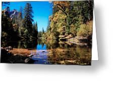 Fall In Yosemite Greeting Card