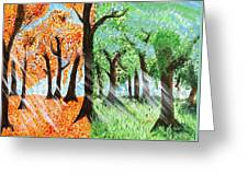Fall Into Spring Greeting Card
