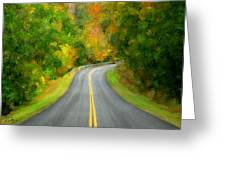 Fall Is Coming Country Road Greeting Card