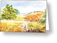 Fall Landscape Briones Park California Greeting Card