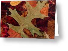 Fall Leaf Collage Greeting Card