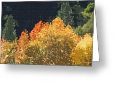 Fall Leave On The East Verde River Greeting Card