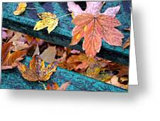 Fall Leaves Autumn Art Greeting Card