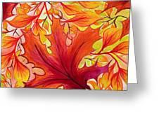 Fall Leaves Greeting Card