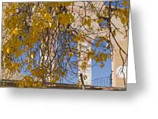 Fall Leaves On Open Windows Jerome Greeting Card