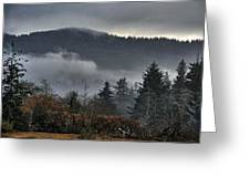 Fall Low Clouds And Fog Greeting Card