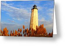 Fall Morning At Lighthouse Point Greeting Card
