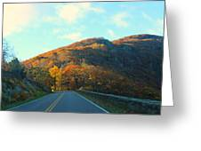 Fall Mountain Road Greeting Card by Candice Trimble