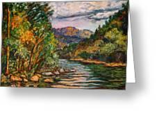 Fall New River Scene Greeting Card