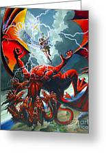 Fall Of The Hydra Greeting Card