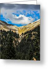 Fall On Red Mountain Pass Greeting Card