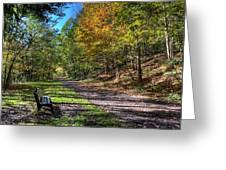 Fall On The Biketrail Greeting Card