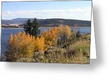 Fall On The Lake Greeting Card