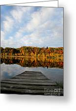 Fall On The Lake Greeting Card
