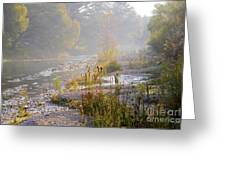 Fall On The River Greeting Card