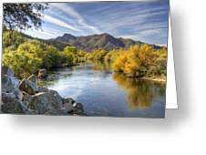 Fall On The Salt River  Greeting Card