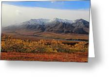 Fall Over Mountain Greeting Card